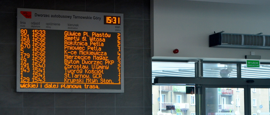 passenger information boards