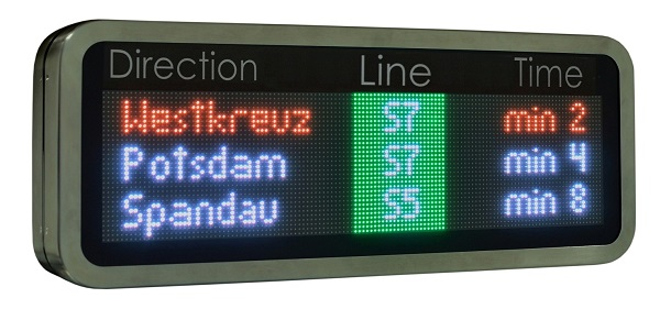 passenger information dispaly fullcolour led rgb