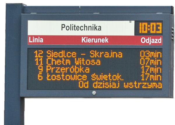 tablica informacji pasazerskiej led tristar