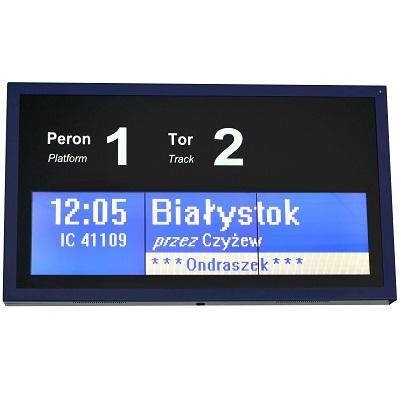 tablica informacji pasazerskiej lcd peronowa