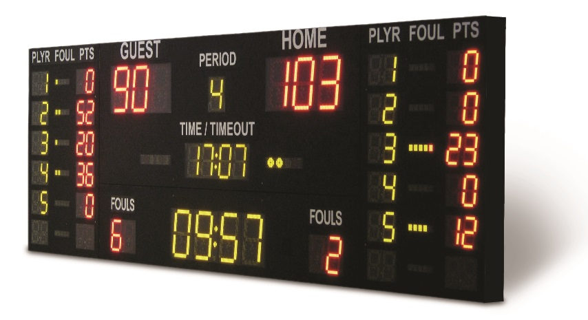 electronic sport scoreboard LED universal multisport for sport hall