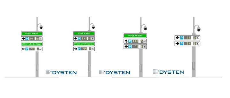 Elektroniczne tablice parkingowe dla miasta Gliwice
