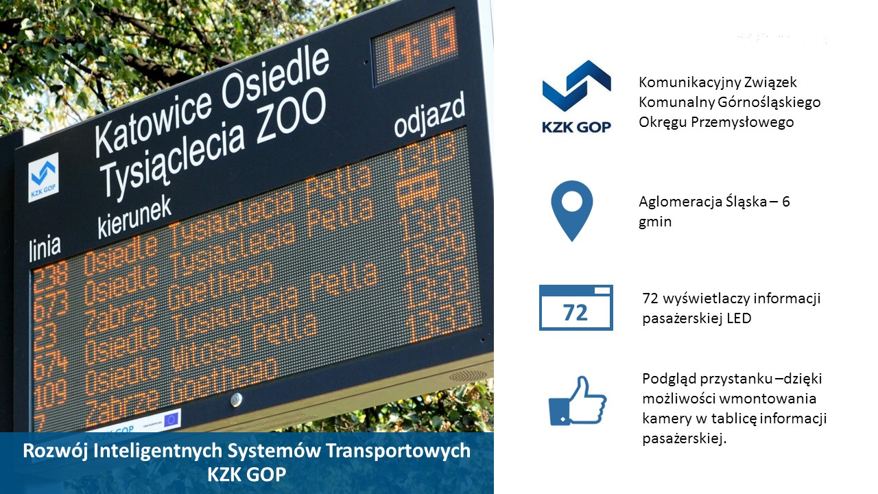 passenger information displays for cities