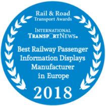 Award for Dysten - Best Railway Passenger Information Displays Manufacturer in Europe