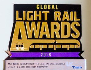 Światowe nagrody dla Dystenu za systemy informacji pasażerskiej
