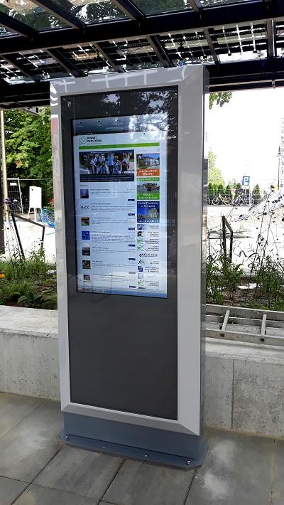 Infokiosk infobox informacja miejska, informacja pasażerska